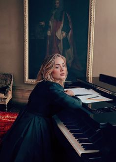 "adelembe: "" "" Adele photographed by Annie Leibovitz for VOGUE. "" holy sweet mother of jesus my soul just left my body SHE'S FIRE """