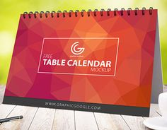 """Check out new work on my @Behance portfolio: """"Free Table Calendar Mock-up For…"""