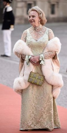 Countess Marianne Bernadotte of Wisborg attends the royal wedding of Prince Carl Philip of Sweden and Sofia Hellqvist at The Royal Palace on June 13, 2015 in Stockholm, Sweden.
