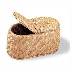 wicker toilet paper basket