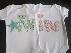 Boy girl twin onesies