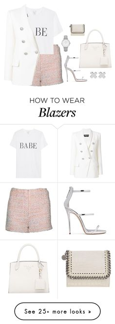 """Untitled #4601"" by magsmccray on Polyvore featuring Balmain, CLUSE, Giuseppe Zanotti, STELLA McCARTNEY and Witchery"