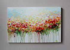 (Merci pour votre visite ! Consultez ma boutique pour plus de peintures originales ici : http://www.etsy.com/shop/mimigojjang?ref=si_shop ****************************************************************************** Description de loeuvre Acrylique sur toile -TITRE : Peinture abstraite fleur -Dimensions : 24 x 36, 1, 5D pouces -MOYEN:... Acrylique de qualité professionnelle sur toile 100 % coton plus barres de châssis en bois. -Signé et daté sur le devant ou dos de toile ***************...