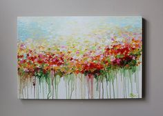 ORIGINAL  flower painting abstract  flower painting