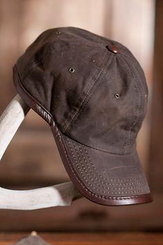 Oil Cloth   Leather Baseball Cap  5ed0b0402066