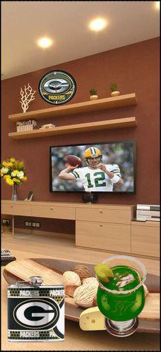 Packers TV room