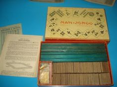 Vintage 1950's Mahjong Game In Box Chad Valley