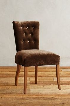 Anthropologie Slub Velvet Abner Dining Chair
