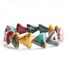 Beautiful ceramic jewelry colorful bracelet with t
