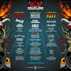 2017 Line up poster Uk Festivals, Wireless Festival, Pop Evil, Bestival, Secondary Market, Billy Idol, Festival Posters, Paramore, Buy Tickets