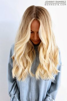 love the blonde (dirty blonde) look of this, and the awesome medium length haircut!