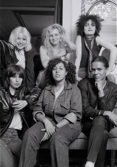 Here's Viv (back row, center) with (clockwise from top left) Debbie Harry of Blondie, Siouxsie Sioux of Siouxsie and the Banshees, Pauline Black of The Selecter, Poly Styrene of X-Ray Spex, and Chrissie Hynde of The Pretenders.