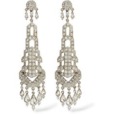 Ben-Amun Silver-tone crystal drop earrings ($148) ❤ liked on Polyvore featuring jewelry, earrings, metallic, silver tone jewelry, crystal drop earrings, silvertone earrings, ben-amun and ben amun jewelry