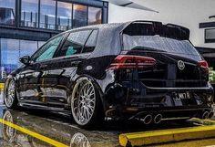 Black beauty#volkswagen #vw #accuair #golfr #ipe7r #innotech #mk7 #mk6 #vwgolf #cars #Rstance #nitto @lukeyping #ecstuning #ecsnation #recaro #modifiedsociety #motor_head_ #madwhip #amazingcars #carinstagram #carlifestyle