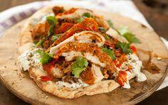 Grilled tandoori chicken sandwhich
