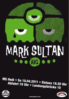 Mark Sultan gig poster (2011)