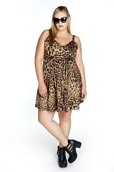 Domino Dollhouse - Plus Size Clothing: Supervixen Dress in Leopard Print