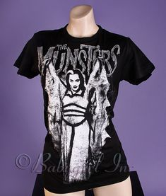 Universal Pictures The Munsters - Lily Munster Women's T-Shirt Tee Shirt, Universal Studios Tees