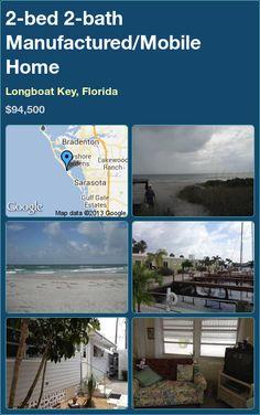 2-bed 2-bath Manufactured/Mobile Home in Longboat Key, Florida ►$94,500 #PropertyForSale #RealEstate #Florida http://florida-magic.com/properties/6837-manufactured-mobile-home-for-sale-in-longboat-key-florida-with-2-bedroom-2-bathroom
