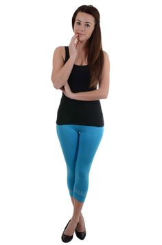 Niezwykle wygodne legginsy w modnym fasonie 3/4. Pięknie dopasowują się do figury, oraz stanowią dopełnienie dziesiątek stylizacji.