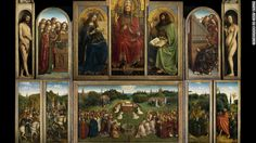 Website lets world admire 'Ghent Altarpiece' in 100 billion pixels. With its remarkably realistic depictions and dramatic history, the Ghent Altarpiece (1432) is widely thought to be one of the most famous panel paintings in the world. Read more: http://www.cnn.com/2012/03/01/world/europe/ghent-altarpiece-online-open-source/index.html?hpt=hp_bn2 'Ghent Altarpiece': http://closertovaneyck.kikirpa.be/#intro