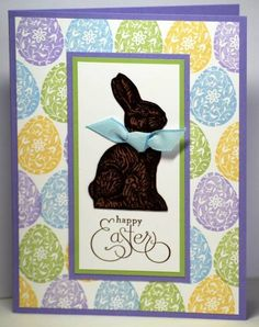 Stampin' Up! Chocolate Bunny card by MichelleD on SCS