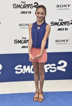 "Rowan Blanchard - Premiere Of Columbia Pictures' ""Smurfs 2"" - Arrivals"