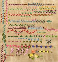 Master the basic embroidery stitches used in traditional crazy quilting.