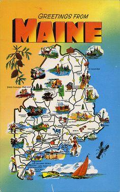 postcard - Maine Vintage