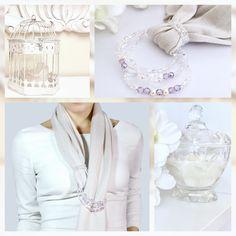 White scarves  Cashmere and Silk white outfits  Fashion style  Elegant women