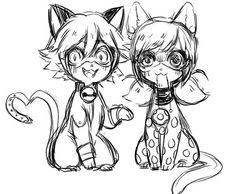 Kitty form LadyNoir