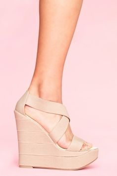 Bound Platform Wedge - Taupe - NASTY GAL - StyleSays