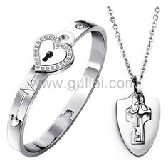 3472234f7f Matching Crown Pendants Girlfriend Boyfriend Set for 2. See more. Gullei.com  Lock and Key Custom Name Couples Jewelry Anniversary Gift