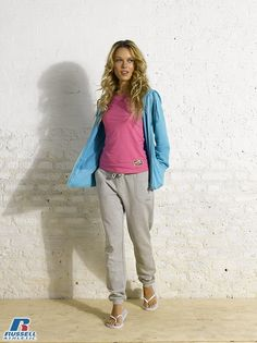 Russell Athletic Summer 2013 Ladies Collection #Russell #Athletic  #Russellbrands #Authentic #American #SportsWear #Apparel #Summer  #Collection #Sports #Wear #Sweatshirt #Womanswear Russell Athletic, Summer Collection, Sportswear, Rain Jacket, Windbreaker, American, Sweatshirts, Lady, How To Wear