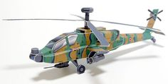 Boeing AH-64 Apache Longbow Attack Helicopter Free Aircraft Paper Model Download