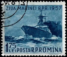 Warship, designed by Ion Dumitrana, printed by photogravure, and issued by Romania on August 1957 for Navy Day, Scott No. Float Quotes, Navy Day, Chat Board, Birthday Numbers, South Australia, Battleship, Gold Stars, Postage Stamps, Sailing Ships
