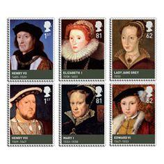 The House of Tudor Stamp Set - British History www.wilburandgussie.com