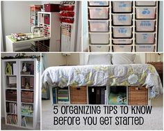 I'm sure these would help me but it has to get to my home first!    5 home/office organizing tips to know before you get started