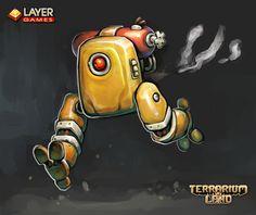 "Demolition bot for 3d indie game ""Terrarium-land"". #terrarium_land, #gamedev, #indiegame, #robots, #scifi, #conceptart,"