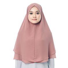 Hayyan Khimar in Pink Hijab Tutorial, Hijab Chic, Hijab Outfit, Modest Dresses, Head Wraps, Hijab Fashion, Fashion Brand, Pink Ladies, Chiffon