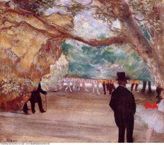 Edgar Degas » The curtain