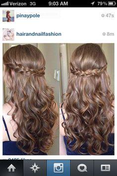 Romantic hair on instagram