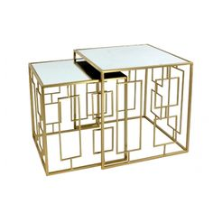 Masuta de cafea Molly set 2 buc Art Deco, Coffee, Modern, Table, Furniture, Design, Home Decor, Products, Corning Glass