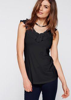 c54f0676854076 Shirttop zwart - bpc selection nu in de onlineshop van bonprix-fl.be vanaf