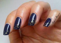 Essence Absolut Blue with essence Steel-ing the Scene   http://penguinlacquer.blogspot.de/2014/09/maritime-goldsplitter.html  #blue #nails