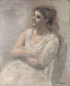 Pablo Picasso, ​Woman in White, Paris, fall 1923, oil water-based paint and crayon on canvas, the Metropolitan Museum of Art, New York, Rogers Fund; acquired from the Museum of Modern Art, Lillie P. Bliss Collection. © 2012 Estate of Pablo Picasso / Artists Rights Society (ARS), New York