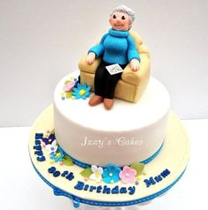 Crossword loving Granny!  Cake by izzyscakes