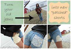 Turn your ripped up old jeans into cute new shorts for summer!  #Icouldmakethatmarch