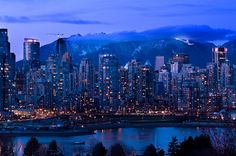 Mountain Metropolis, Vancouver, BC, Canada, Such a beautiful country Beautiful Places In The World, Most Beautiful Cities, Oh The Places You'll Go, Amazing Places, Vancouver Skyline, Vancouver City, Vancouver Island, Innovative City, West Coast Canada