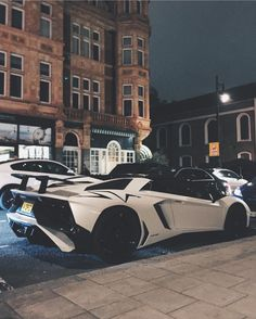 Lamborghini Aventador Super Veloce Roadster painted in Matte White Photo taken by: @alexpenfold on Instagram (@mad.exotic.cars on Instagram, his father is the owner of the car)